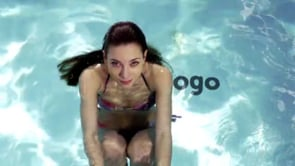 Pool Logo Girl Swims Away