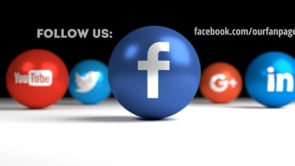 Social Icons Balls Black Facebook
