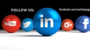 Social Icons Balls Black Linkedin